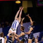 Ben Brown, Geelong Cats, Harry Taylor, Jared Rivers, North Melbourne