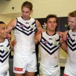 Aaron Sandilands, Danyle Pearce, David Mundy, Fremantle, Matt de Boer