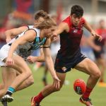 Aaron Young, Christian Petracca, Melbourne, Port Adelaide