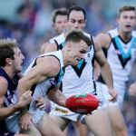 Fremantle, Michael Barlow, Robbie Gray Port Adelaide