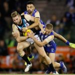 Jackson Trengove, Jed Anderson, Lindsay Thomas, North Melbourne, Port Adelaide