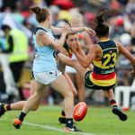 Adelaide Crows, Carlton Blues, Justine Mules, Kate Darby