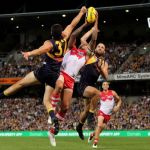 Lance Franklin, Sydney Swans, Tom Barrass, West Coast Eagles, Will Schofield