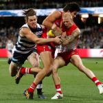 Geelong Cats, Lewis Melican, Sydney Swans, Wylie Buzza, Zak Jones
