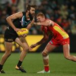 Gold Coast Suns, Justin Westhoff, Peter Wright, Port Adelaide