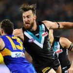 Charlie Dixon, Luke Shuey, Port Adelaide, West Coast Eagles