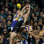 Jeremy McGovern, Nathan Vardy, Ollie Wines, Paddy Ryder, Port Adelaide, Todd Marshall, West Coast Eagles