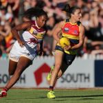 Adelaide Crows, Angela Foley, Brisbane Lions, Sabrina Frederick-Traub