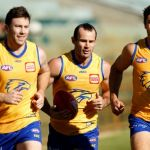Jeremy McGovern, Shannon Hurn, Tom Barrass, West Coast Eagles