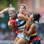 Adelaide Crows, Courtney Cramey, Geelong Cats, Justine Mules, Melissa Hickey