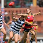 Adelaide Crows, Geelong Cats, Georgia Clarke, Sophie Li