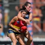 Adelaide Crows, Bec Goring, Geelong Cats, Justine Mules