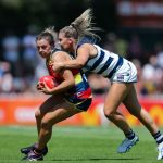 Adelaide Crows, Ebony Marinoff, Geelong Cats, Rebecca Webster
