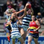 Adelaide Crows, Anna Teague, Erin Phillips, Geelong Cats, Meghan McDonald