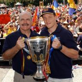 AFL 2001 Media - Brisbane Premiers Victory Parade 021001