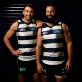 AFL 2016 Portraits - Jimmy Bartel and Corey Enright