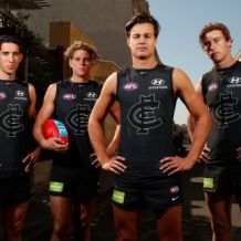 AFL 2017 Media - Carlton Blueout Guernsey Presentation