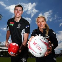 AFL 2017 Media - Collingwood Magpies AFL & Super Netball Training Session