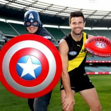 AFL 2018 Media - Trent Cotchin and Marvels Launch