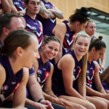 AFLW 2021 Media - Fremantle Team Photo Day